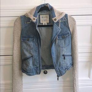 Billabong jean sweater jacket